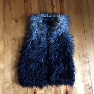 Romeo + Juliet Couture Feather Vest